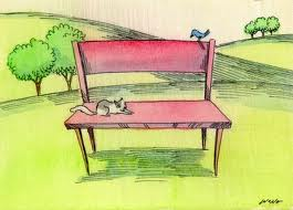 A milk bottle can be recycled into a park bench (cat not included)